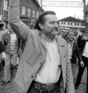 Lech Walesa 1983/Andrzej Duda på besök i Vita huset i veckan. TT