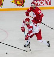 Ryssland mot Belarus i hockey-VM i somras. INTS KALNINS / BILDBYRÅN