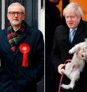 Jeremy Corbyn/Boris Johnson.  DANIEL LEAL-OLIVAS / AFP