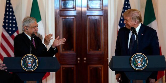 Andres Manuel Lopez Obrador och Donald Trump. Evan Vucci / TT NYHETSBYRÅN