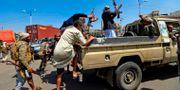 Huthilojala soldater. MOHAMMED HUWAIS / AFP