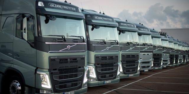 Lastbilar från Volvo. BJÖRN LARSSON ROSVALL / TT / TT NYHETSBYRÅN