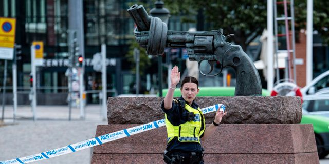 Polisen spärrade av Centralen Johan Nilsson/TT / TT NYHETSBYRÅN