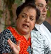 Pakistans minister för mänskliga rättigheter Shireen Mazar. Arkivbild.   B.K Bangash / TT NYHETSBYRÅN