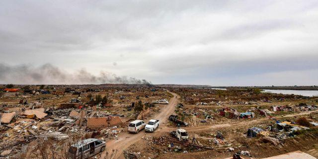 En by i närheten av Baghuz. Arkivbild. GIUSEPPE CACACE / AFP