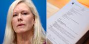 Anna Lindstedt och den friande domen i Stockholms tingsrätt.  TT