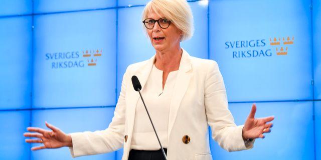 Elisabeth Svantesson, Moderaternas ekonomisk-politiska talesperson.  Fredrik Sandberg/TT / TT NYHETSBYRÅN