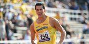 Perseus Karlström, Sverige, vann 10 000 meter gång på 38:03, den sjätte snabbaste tiden genom tiderna, under Finnkampen 2019 på Stockholm Stadion. Henrik Montgomery/TT / TT NYHETSBYRÅN