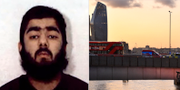 Usman Khan / räddningspådrag på London Bridge. West Midlands Police / TT