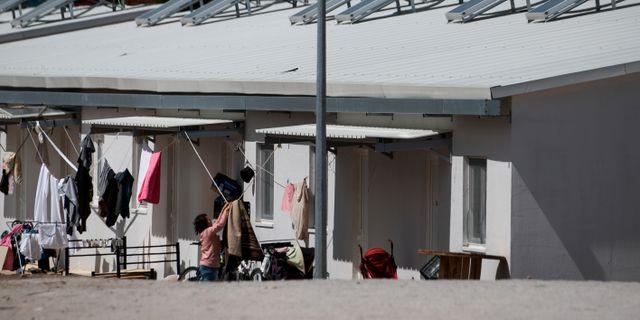 Flyktinglägret Ritsona norr om Aten. ALKIS KONSTANTINIDIS / TT NYHETSBYRÅN