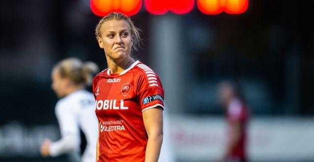 Limhamn Bunkeflos Sophie Sundqvist deppar- CHRISTOFFER BORG MATTISSON / BILDBYRÅN