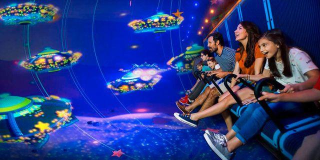På Legoland i Florida finns redan en flygande teater. Nöjesparken i Billund kommer att få en liknande attraktion. Legoland