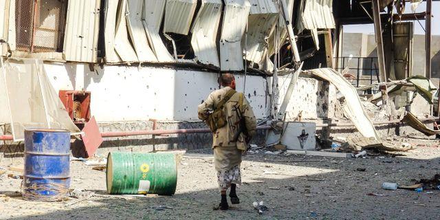 Regeringstrogen soldat i Jemen. STRINGER / AFP
