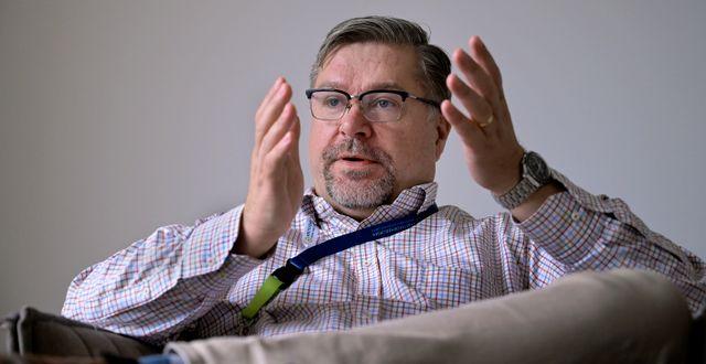 Arbetsförmedlingens generaldirektör Mikael Sjöberg. Janerik Henriksson/TT / TT NYHETSBYRÅN