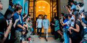 Joshua Wong och Nathan Law.  ISAAC LAWRENCE / AFP