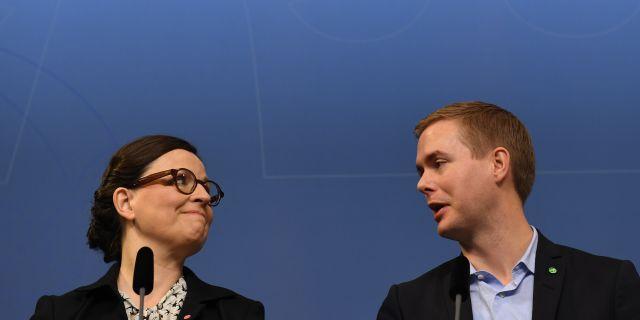 Anna Ekström och Gustav Fridolin i november 2016. Fredrik Sandberg/TT / TT NYHETSBYRÅN