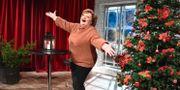 Marianne Mörck presenteras som årets julvärd i SVT under en pressträff i TV-huset. Claudio Bresciani/TT / TT NYHETSBYRÅN