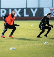 Göteborgs FC tränar på torsdagen. På bilden: Pauline Hammarlund, Stina Blackstenius och Lotta Ökvist Björn Larsson Rosvall/TT / TT NYHETSBYRÅN
