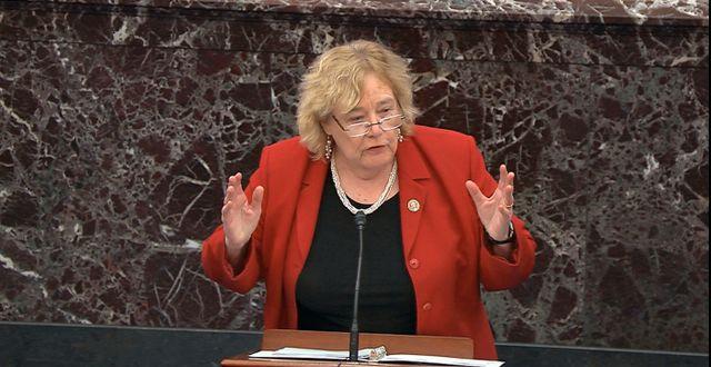 Zoe Lofgren representerar Demokraterna i representanthuset. TT/ AP