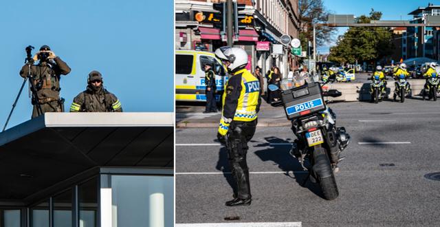 Poliser i centrala Malmö.