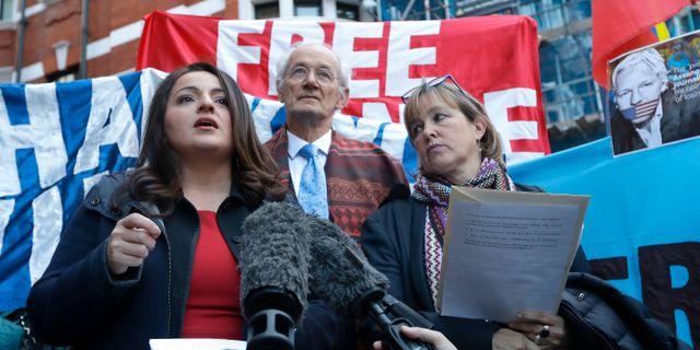 John Shipton på en manifestation för Wikileaks. Kirsty Wigglesworth / TT NYHETSBYRÅN/ NTB Scanpix