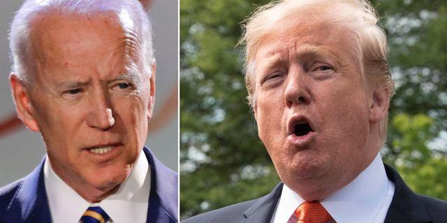 Biden och Trump. TT