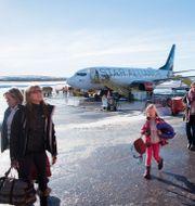 Resenärer på flygplatsen i Kiruna, arkivfoto. Fredrik Sandberg/TT / TT NYHETSBYRÅN