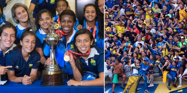Atletico Huila och Boca Juniors-fans.  Bildbyrån.