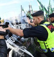 Bild från demonstrationen i Göteborg. Fredrik Sandberg/TT / TT NYHETSBYRÅN