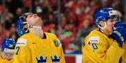 Sveriges Timothy Liljegren och Isac Lundeströ m  efter finalförlusten. JOEL MARKLUND / BILDBYRÅN