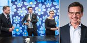 SD:s Mattias Karlsson, Jimmie Åkesson och Paula Bieler, Moderaternas Ulf Kristersson TT