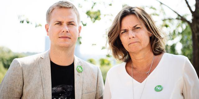 Gustav Fridolin och Isabella Lövin.  Erik Simander/TT / TT NYHETSBYRÅN