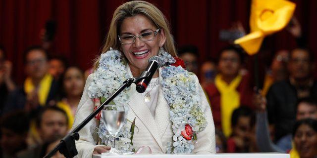 Jeanine Áñez. Juan Karita / TT NYHETSBYRÅN