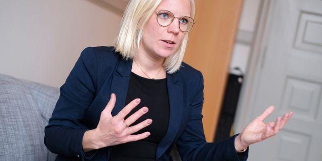 Karin Ernlund (C), Stockholms stads nya arbetsmarknads- och integrationsborgarråd i Stockholms stad. Foto: Sören Andersson