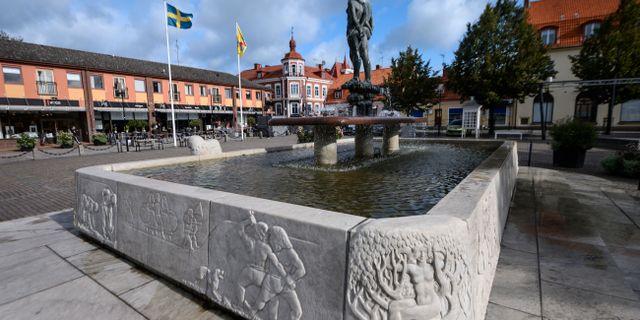 Stortorget i Sölvesborg.  Johan Nilsson/TT / TT NYHETSBYRÅN