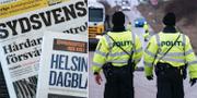 Arkivbild, tidningar från Sydsvenskan/HD, dansk gränskontroll i samband med coronautbrottet. TT