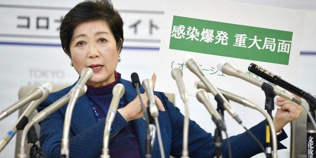Tokyos guvernör Yuriko Koike. KYODO / TT NYHETSBYRÅN