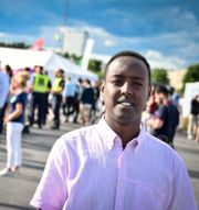 Ahmed Abdirahman anordnar festivalen i Järva. Marcus Ericsson/TT / TT NYHETSBYRÅN