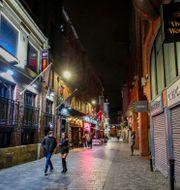 Öde gata i Liverpool, Storbritannien. Peter Byrne / TT NYHETSBYRÅN