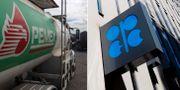 Arkivbilder: tankbil från Mexikos statliga oljebolag Pemex. Opecs högkvarter i Wien. TT
