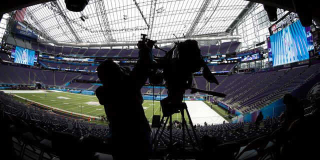 Super Bowl-stadion i Minneapolis Matt Slocum / TT / NTB Scanpix