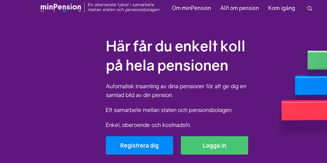 Startsida Min Pension