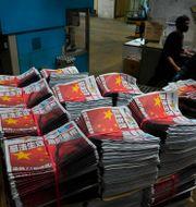 Apple Daily-tidningar. Arkivbild. Vincent Yu / TT NYHETSBYRÅN