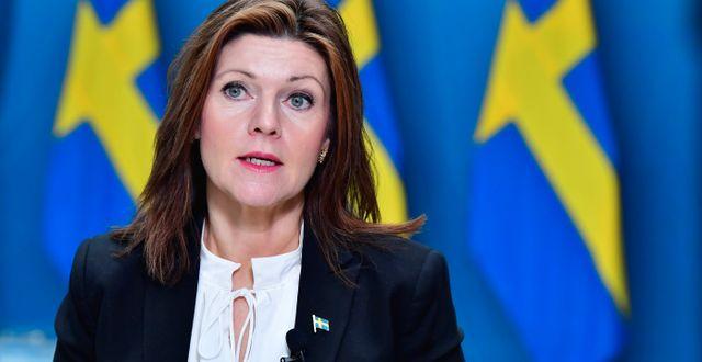 Arkivbild. Arbetsmarknadsminister Eva Nordmark. Jonas Ekströmer/TT / TT NYHETSBYRÅN