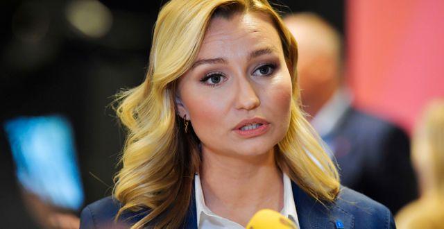 Ebba Busch (KD). Jessica Gow / TT NYHETSBYRÅN