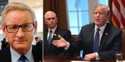 Sveriges tidigare statsminister och utrikesminister Carl Bildt (M) och USA:s president Donald Trump.  TT