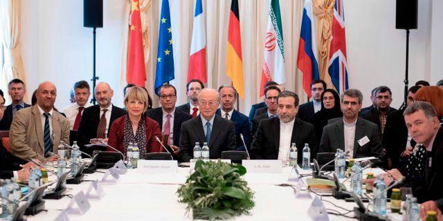 Bild från fredagens möte. JOE KLAMAR / AFP