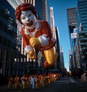 Ronald McDonald på sjätte avenyn i New York 2018. Andres Kudacki / TT NYHETSBYRÅN