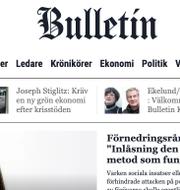 Bulletins hemsida. Bulletin.