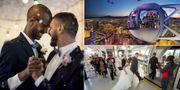Med tio vänner som vittnen kan du nu gifta dig 167 meter upp i luften i det ikoniska pariserhjulet i Las Vegas. Thinkstock / Caesars / Las Vegas